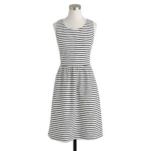 J.Crew Black White Striped Daybreak  Dress